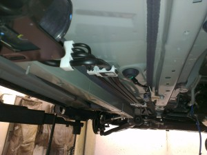 Fahrzeugunterboden ohne Unterbodenschutz